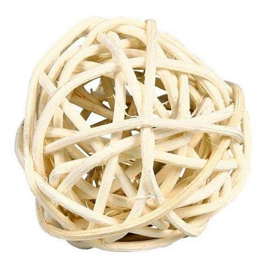 Obrázek Proutěný míček s rolničkou 4 cm
