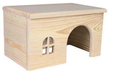 Obrázek Dřevěný domek s rovnou střechou pro morčata