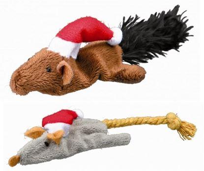 Obrázek Vánoční myš a veverka
