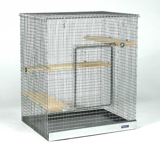 "Obrázek ½"" x 1"" Wire Chinchilla Townhome™ (for baby chins), Galvanized w/ Powder Coated Tray"