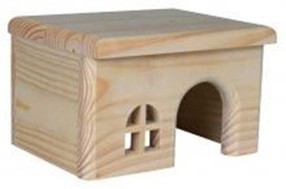 Obrázek Dřevěný domek s rovnou střechou pro křečky