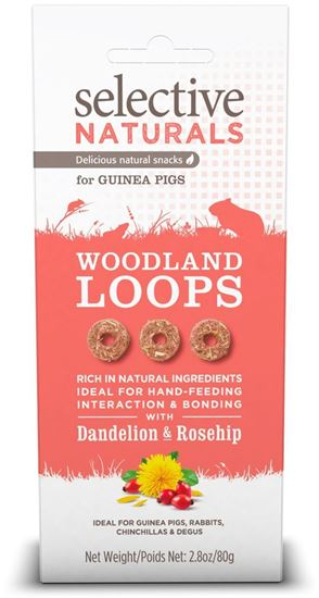 Obrázek Supreme Selective snack Naturals Woodland Loops 80 g