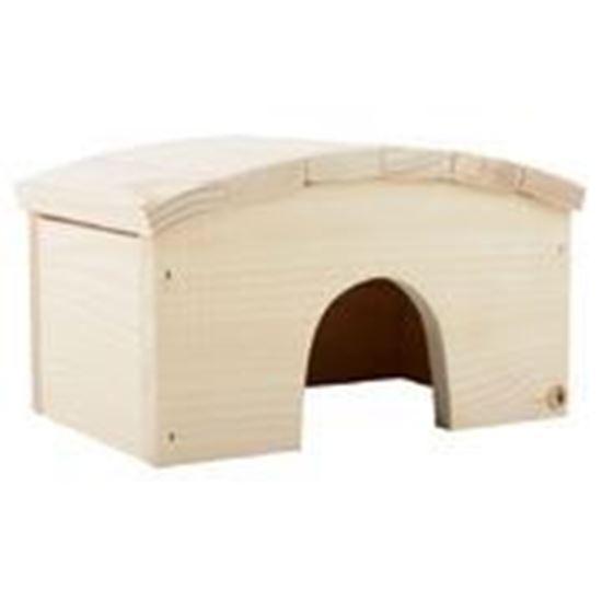 Obrázek Dřevěný domek pro morče s obloukovitou střechou