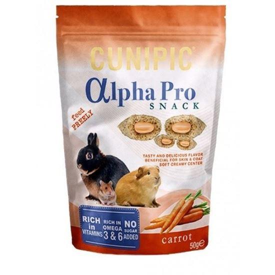 Obrázek Cunipic Alpha Pro Snack Carrot - mrkev 50g