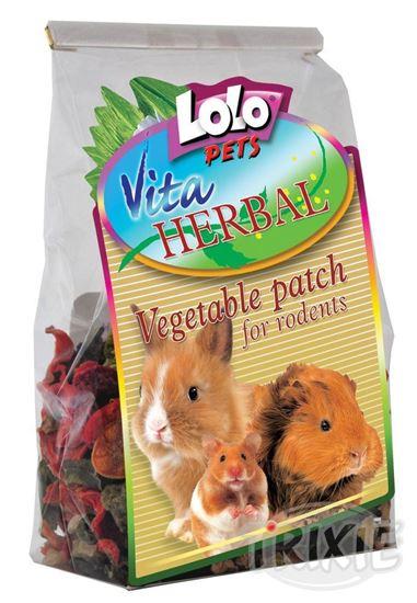 Obrázek Lolopets Vita Herbal zeleninové plátky 100g
