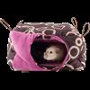 Obrázek Domeček závěsný pro potkana, fretku 26 x 26 x 15 cm